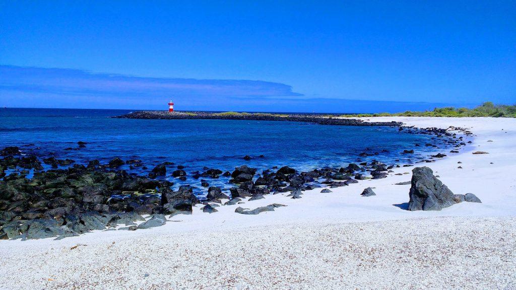 Galapagos Islands White Sandy Beach
